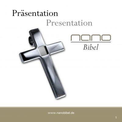 Präsentation über die Herstellung der NanoBibel