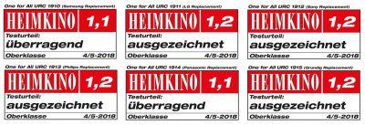 Die Testergebnisse für ONE FOR ALL Ersatzfernbedienungen in der aktuellen Ausgabe der HEIMKINO