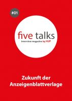 five talks interview magazine by HUP