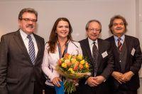 Dr.-Mutschler-Preis 2016, v.l. Dr. Hugo Müller-Vogg, Birgit Kelle, Dr. Jörg Mutschler, Helmut Markwort. Quelle: Markus Bollen