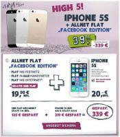Allnet Flat inklusive SMS Flat plus iPhone 5s für monatlich nur 39,90,- Euro