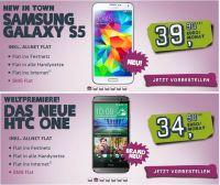 Ab sofort bietet yourfone.de das Samsung Galaxy S5 und das neue HTC One zur Vorbestellung im Handyshop an