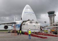 Satellit EUTELSAT 7C kommt in Kourou an und startet am 20. Juni