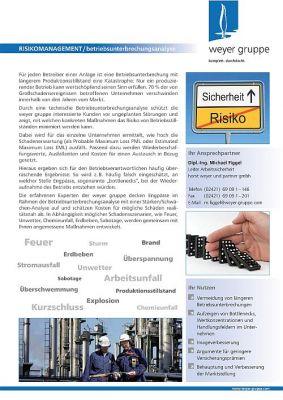 Betriebsunterbrechungsanalyse für das Risikomanagement - Der 360°-Check für Ihr Unternehmen!