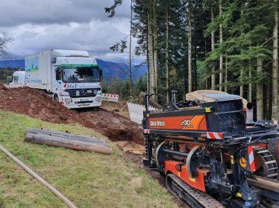 Rund 60 Kilometer Rohrleitung verlegt H&E Bohrtechnik im Schnitt jährlich im Spülbohrverfahren unter anspruchsvollen Bedingungen.