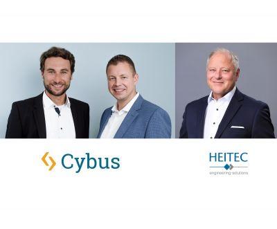Von links: Peter Sorowka (CEO bei Cybus), Carsten Stiller (CSO bei Cybus) und Ekkehard Reuß (Vorstand der HEITEC AG)