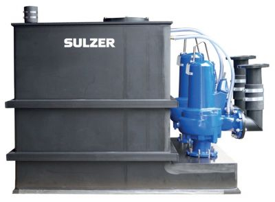 Bei den neuen ABS Sanimat-Hebeanlagen ersetzen Sammelbehälter aus langlebigem PE-Kunststoff die bisherigen Stahlbehälter.