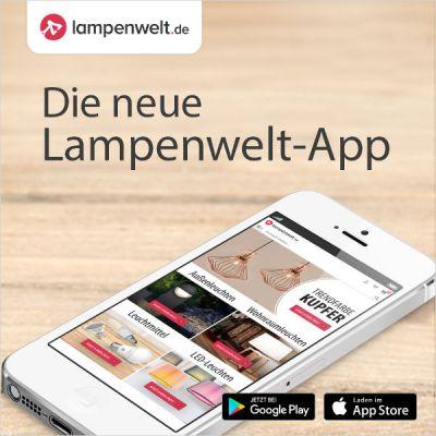 340.000 sofort versandbereite Artikel werden in der App angezeigt.   © Lampenwelt.de