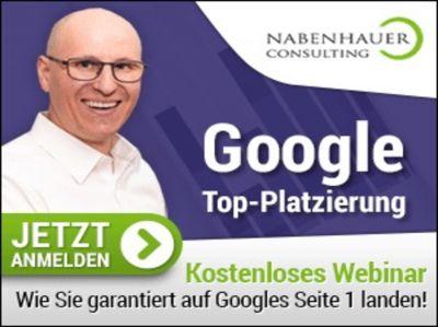 """SEO Beratung """"Google Top Platzierung"""" von Nabenhauer Consulting"""