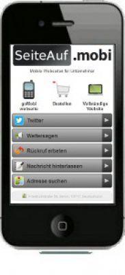 SeiteAufMobi demo mobile website
