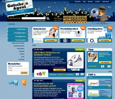 Screen der Seite