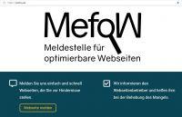 Mefow Meldestelle F R Optimierbare Webseiten Gestartet