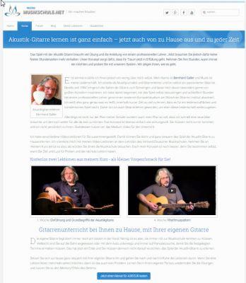 Screenshot vom Akustik- Gitarrenkurs von meineMusikschule.net