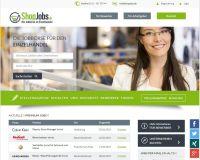 Screenshot ShopJobs Startseite