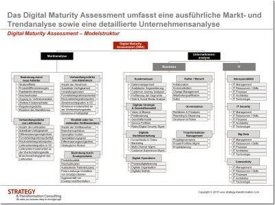 Digital Maturity Assessment Modellstruktur