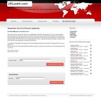 URLwert.com - Kostenlose Webseiten-Bewertung