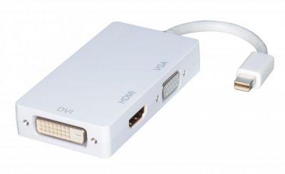 Kombikonverter 41050 von LINDY konvertiert Mini-DP zu HDMI, DVI und VGA