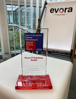 Evora IT Solutions - Great Place To Work® Award 2020