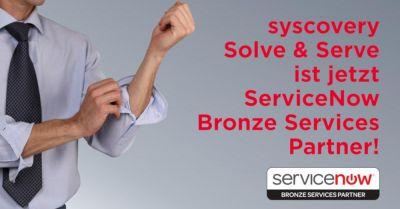 Syscovery Solve & Serve ist jetzt ServiceNow Bronze Services Partner