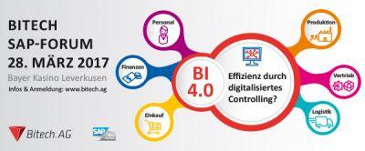 Am 28. März diskutieren SAP Anwender und Experten über BI auf dem Bitech SAP-Forum 2017 im Leverkusener Bayer Kasino.