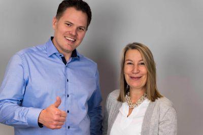 Philipp Berchtold und Stefanie Rickert, Geschäftsführung ibelsa GmbH.