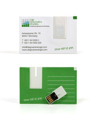 USB Visitenkarte aus Papier