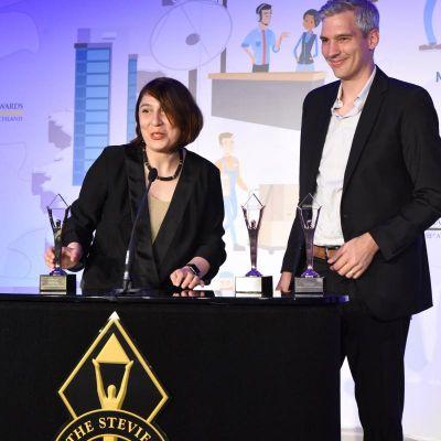Gründer von gravity & storm bei German Stevie Awards in München