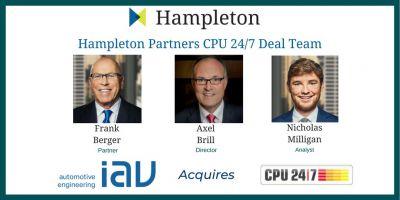 Das CPU 24/7 IAV Deal-Team bei Hampleton Partners