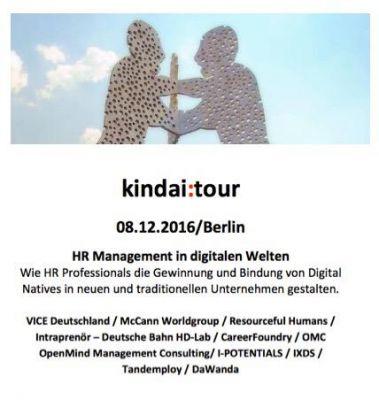 """""""HR Management in digitalen Welten"""" Tour 08.12./ Berlin"""