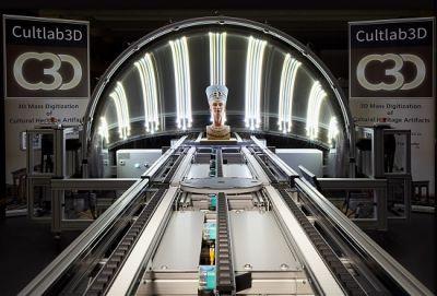 """Mit der Scanstraße """"CultLab3D"""" sollen sich künftig kleine bis mittlere Objekte vollautomatisch digitalisieren lassen."""