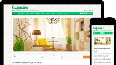 Mit Lodgify erstellte Beispiel-Homepage