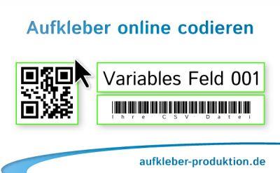 Seriennummer Aufkleber mit QR Code, laufender Nummer & Strichcode (Beispiel)