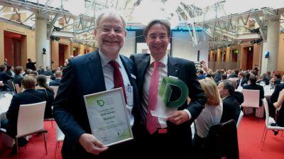 Achim Heidebrecht (CTO) und Michael Kraus (CEO) nach der Preisverleihung (v.l.n.r.)