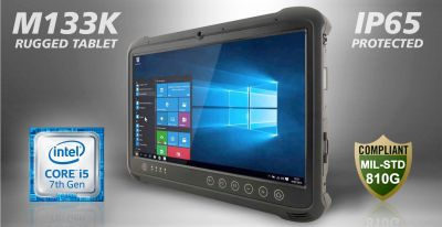 Das rugged Tablet M133K von TL Electronic mit Multi-Touch-Screen und Core-i-CPU der 7. Generation.