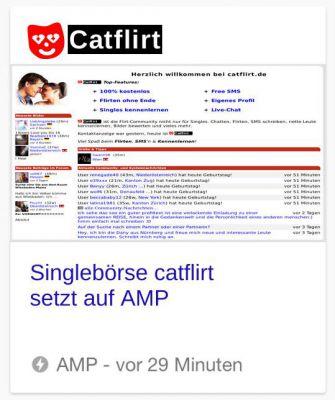 Screenshot AMP-News in Google's Carousel
