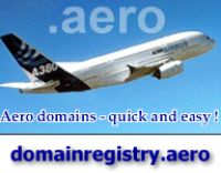 Aero-Domains: register your company name as.aero domain name to reserve your piece  at aviation's internet space