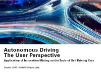 Titelblatt Studie: AUTONOMOUS DRIVING: THE USER PERSPECTIVE