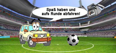 Fußballfans können Fußball-Pausen nutzen und selbst Spass haben, zum Beispiel im Offroad-Fahrzeug, einfach mal ab ins Gelände.