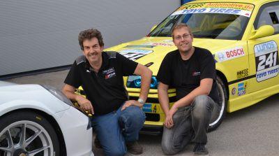 "Die ""Fahrwerks-Flüsterer"": Uwe (links) und Andy Rehwald"