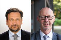 l: Dr. Thomas Hülshorst, Group Vice President Electronics & Electrification, r: Jürgen Ogrzewalla, europäischer Bereichsleiter