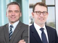 l: Dr. Henning Baumgarten, Group Vice President Ottomotoren, r: Dr. Johannes Scharf, europäischer Bereichsleiter Ottomotoren