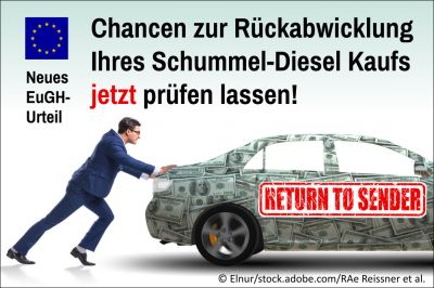Neuer Weg zur Diesel-Entschädigung dank EuGH: Jetzt alte Auto-Finanzierung auf lukrative Widerrufbarkeit prüfen lassen.