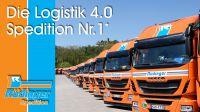 LKW, Burg, Logistik 4.0 - die Spedition Rüdinger.. * Rüdinger ist Nr. 1 im Wettbewerb der VR unter den teilnehmenden Speditionen.