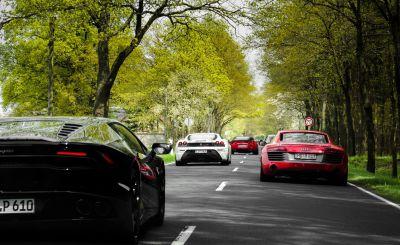 Fahrzeuge der Sportwagenvermietung Motion Drive