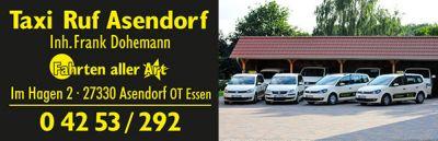 Taxi Ruf Asendorf ist seit jeher VW-Kunde und fährt mit einer modernen Taxi-Fahrzeugflotte.