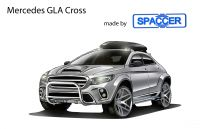 Mercedes GLA Crossover mit Spaccer