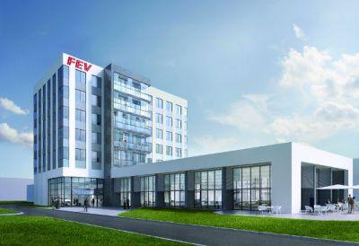FEV-Neubau in Aachen: Der feierliche erste Spatenstich erfolgte Mitte Oktober im Beisein von Vertretern aus Politik und Wirtschaft