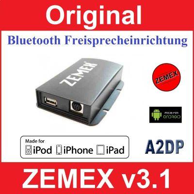 ZEMEX V3.1 Bluetooth Freisprecheinrichtung mit A2DP Audio Streaming für alle Bluetooth fähigen Smartphones
