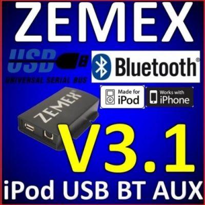 ZEMEX v3.1 Bluetooth Freisprecheinrichtung mit Audio Streaming Funktion