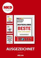 """NKD belegt den 3. Platz bei der Studie """"Deutschlands Beste"""" und zählt damit zu den beliebtesten Marken aus Verbrauchersicht."""
